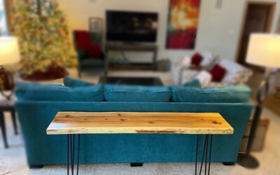 Live-edge Sofa Table